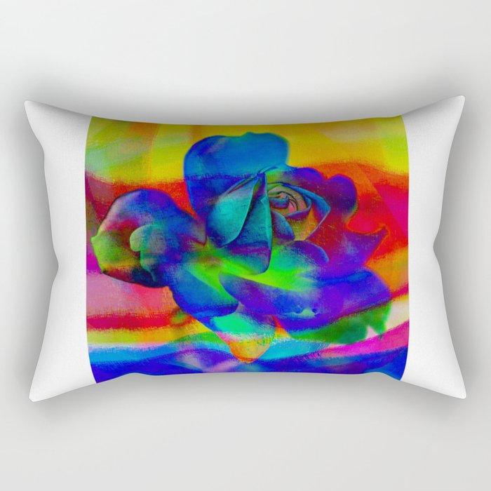 Rose Playing with Textures Rectangular Pillow