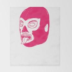 Pink Luchador Throw Blanket