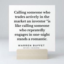 56    Warren Buffett Quotes   190823 Mini Art Print