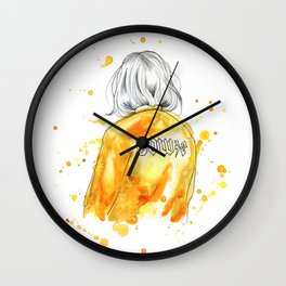 Ziggy Stardust - Bowie Illustration Wall Clock