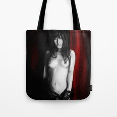 Lady in Red. Tote Bag