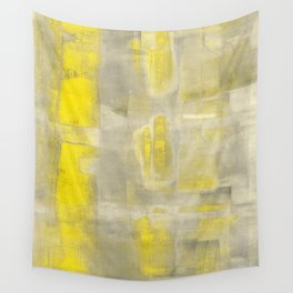 Stasis Gray & Gold 2 Wall Tapestry