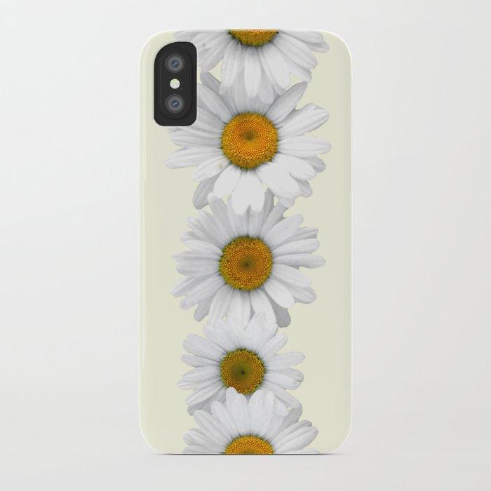 meet 3d9d6 da354 Daisy Chains on Pastel Yellow iPhone Case by tangerinetane