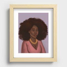 Kiara African American Woman  Recessed Framed Print