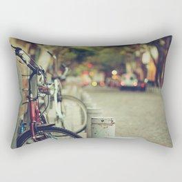 The street is quiet Rectangular Pillow