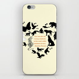 Love of the Animals Typography iPhone Skin