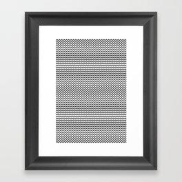 Chevron Grey Framed Art Print