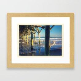 Beach Pier Framed Art Print