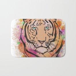 Watercolour Colourful Tiger  Bath Mat