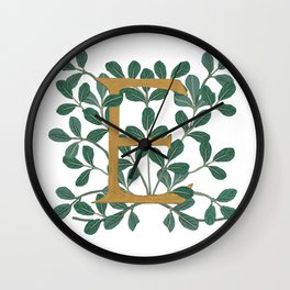 Letter E Forest Lite 2020 Wall Clock