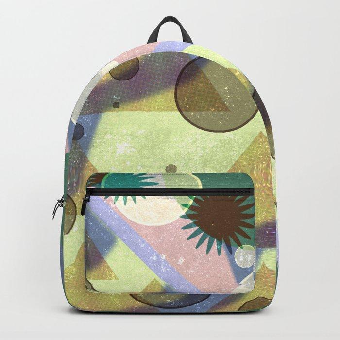 Geometric Suns and Pyramids Backpack