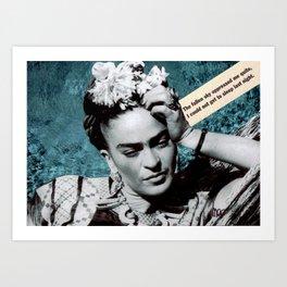 Tribute to Frida Kahlo #26 Art Print