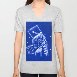 Nutcracker in Bright Blue Unisex V-Neck