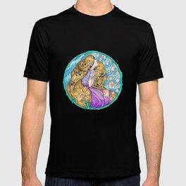 Rapunzel Art Nouveau White Background T-shirt