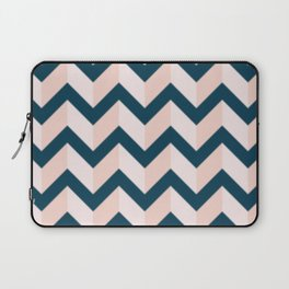 Blue and Shades of Pink Chevron Laptop Sleeve