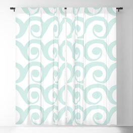 Minty Waves Blackout Curtain