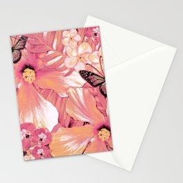 Coral Pink Hibiscus Stationery Cards