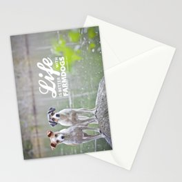Life is better with farmdogs Stationery Cards