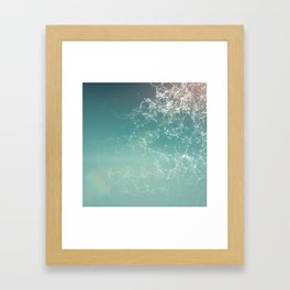 Fresh summer abstract background. Connecting dots, lens flare Framed Art Print