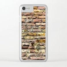 Pink bricks Clear iPhone Case