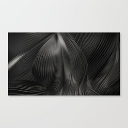 Black Steel Abstraction Canvas Print