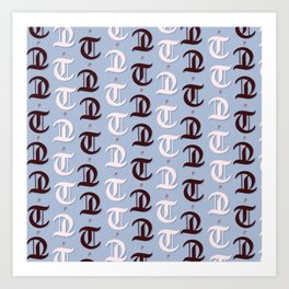 cross the t's and dot the i's Art Print