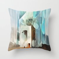 in the flesh Throw Pillows featuring The Crystal-Flesh Hermitage by Mark Facey