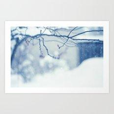 Snow Falling  Art Print