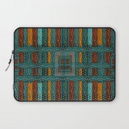 """""""Blue vintage textile patches"""" Laptop Sleeve"""