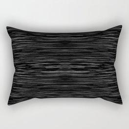 Meteor Stripes - Deep Black Rectangular Pillow