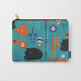 Modern birds and sleepy cats Carry-All Pouch