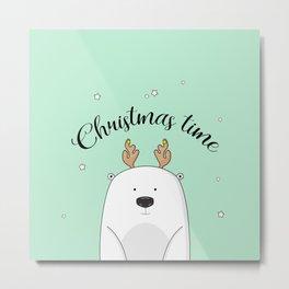 Christmas bear Metal Print