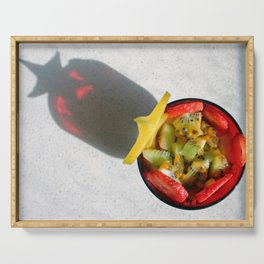 Fruit Salad Photography with special star shadow Serving Tray