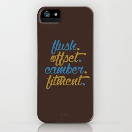 flush offset camber fitment v7 HQvector iPhone Case