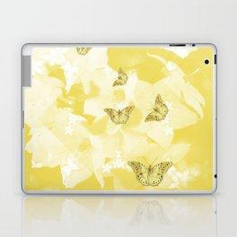 Secret spring garden with butterflies Laptop & iPad Skin