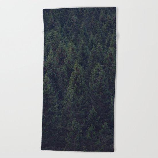 Deep In The Woods Beach Towel