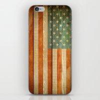 american flag iPhone & iPod Skins featuring American Flag by JobiJu