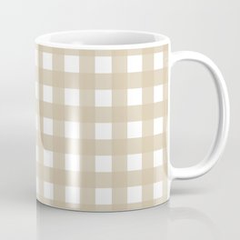 Farmhouse Gingham in Burlap Coffee Mug