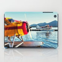 planes iPad Cases featuring Float Planes by Shaun Lowe