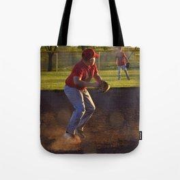 Baseball Action Tote Bag