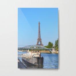 Eiffel tower and Pont Rouelle - Paris Metal Print