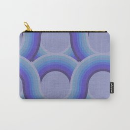 Rollin' Retro Road in Blue Ombre Textured Carry-All Pouch