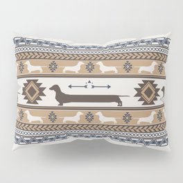 Boho dogs | Smooth dachshund tan Pillow Sham