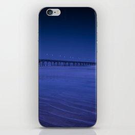 Pier photography night iPhone Skin