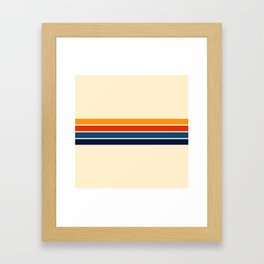 Classic Retro Stripes Framed Art Print