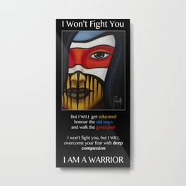 Compassion Warrior Metal Print