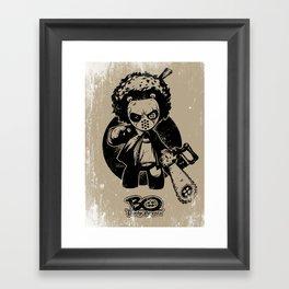 """Bo: Plushy Gangsta """"Friday"""" b/w Framed Art Print"""