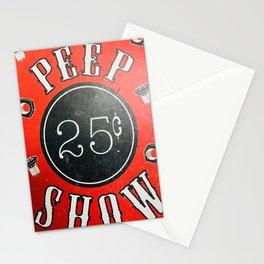 Antique Peep Show Signage Stationery Cards
