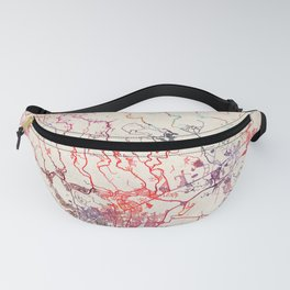 Ponce map Puerto Rico painting Fanny Pack