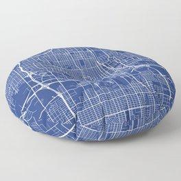 Oklahoma City Map, USA - Blue Floor Pillow